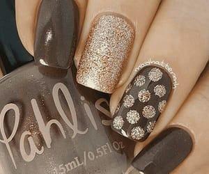 brown, nails, and art image