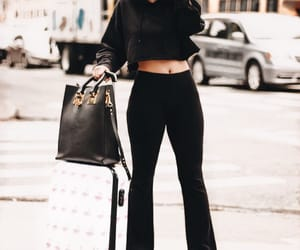 black, handbag, and elegence image