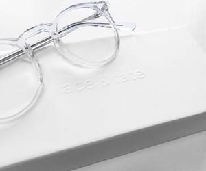 white and glasses image