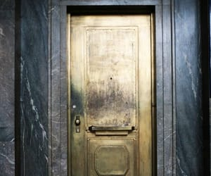 door, gold, and house image