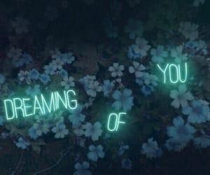 flowers, quotes, and neon image