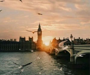 london, sunset, and travel image