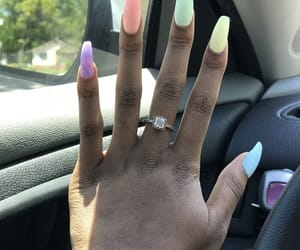 nails, pretty, and spring image