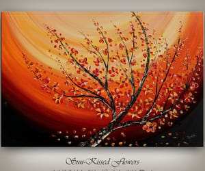 abstract, poppies, and walldecor image