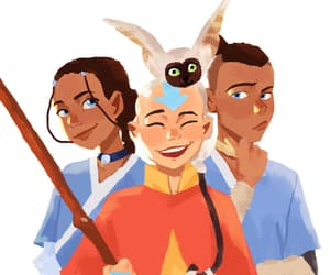 aang, katara, and avatar image