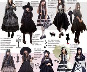 dresses, goth, and witch image
