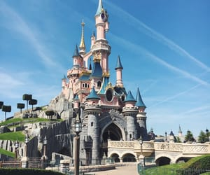 castle, disneyland, and princess image