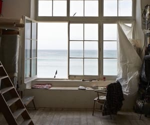 sea, home, and window image