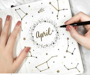 april, stars, and bujo image