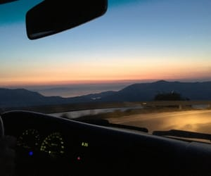 car, sunset, and colorful image