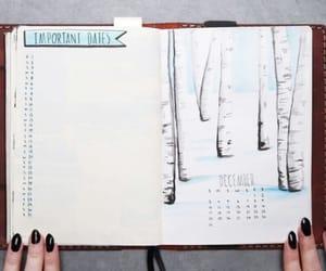 bullet journal, bullet journal winter, and december bullet journal image