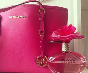 pink, bag, and perfume image