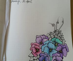 diary, doodle, and flower image