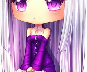 anime, art, and purple image