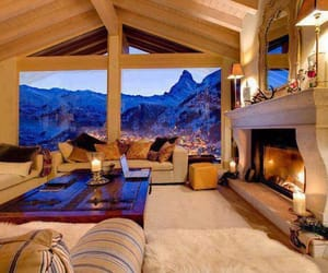 house, home, and mountains image
