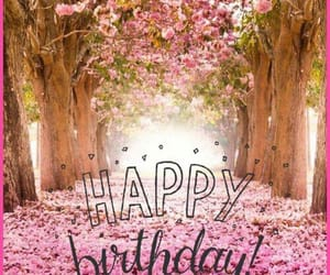 happy birthday and pink image
