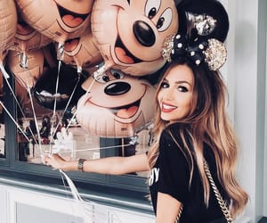 girl, disney, and balloons image