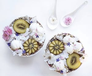 bowls, fruit, and smoothie bowl image