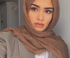 beauty, girl, and hijab image