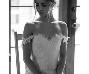 blackandwhite, girl, and wedding image