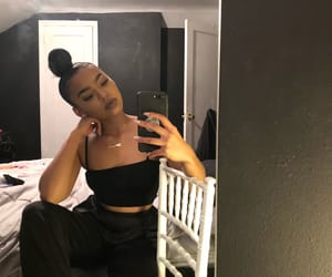 beauty, black woman, and fashion image