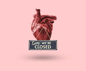 closed, heart, and pink image