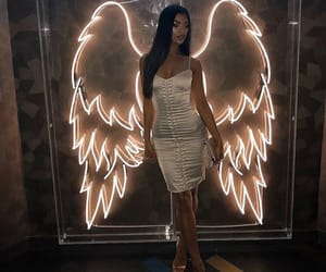 girl, fashion, and angel image