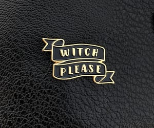 banner, witch pin, and etsy image