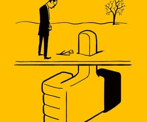 illustration and yellow image