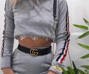 bralette, sweatshirt, and fashion image