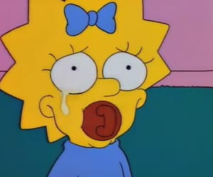 simpsons, cry, and mood image