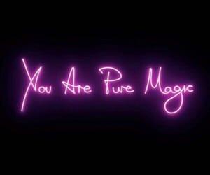 neon, light, and magic image