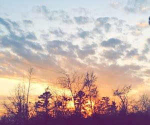 beautiful, sunset, and weather image
