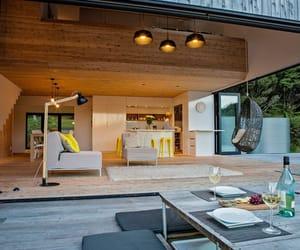house, interior, and backyard image