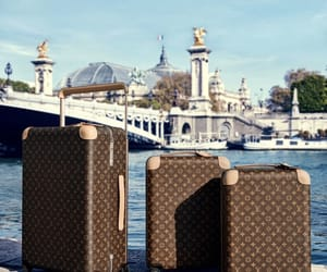 Louis Vuitton and suitcase image