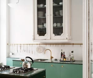 interior, design, and kitchen image