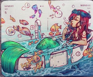 bathroom, mermaids, and mermaids style image