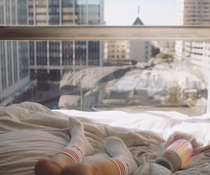 bed and morning image