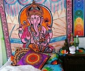 room, Ganesha, and hippie image