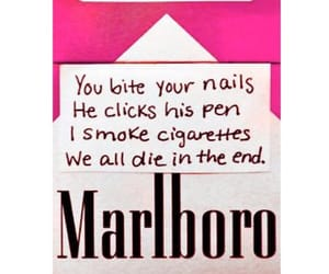 cigarette, marlboro, and die image