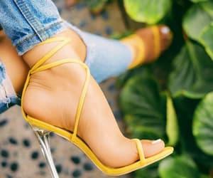 fashion, yellow, and heels image