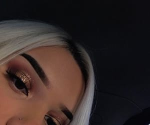 makeup, glitter, and hair image