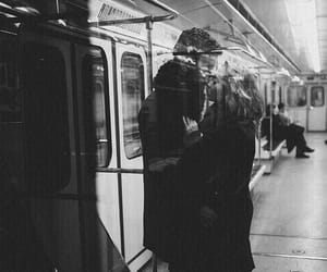 love, couple, and subway image