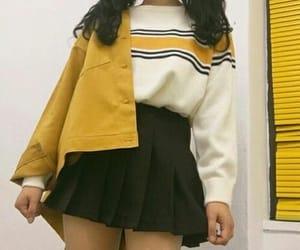 fashion, yellow, and asian image
