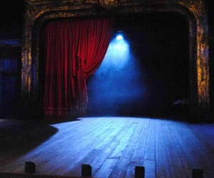 blue, red, and stage image