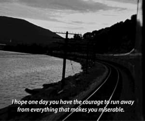 quotes, miserable, and black and white image