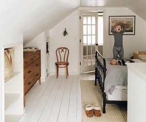 home decor, farmhouse style, and attic bedroom image