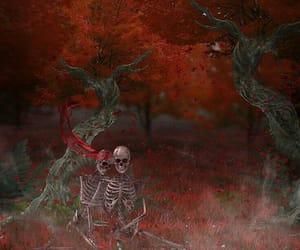 art, orange, and red image