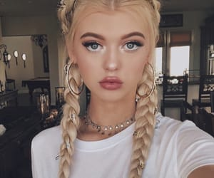 girl, makeup, and loren image