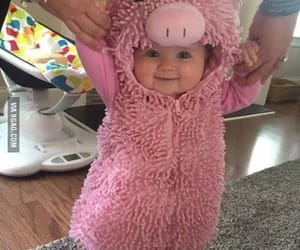 baby, cutie, and piggy image